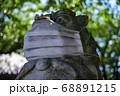 マスクをしている狛犬 目黒不動尊・瀧泉寺【クローズアップ】 68891215