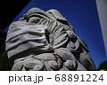 マスクをしている狛犬 目黒不動尊・瀧泉寺【クローズアップ】 68891224