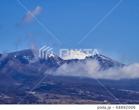東御市から見た冬の浅間山 長野県 68892006