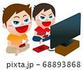 友達とゲームで遊ぶ 68893868