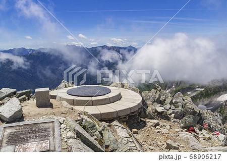 【北アルプス・立山】雄山山頂から望む 北アルプスの山々 68906217