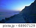千葉県銚子市の屏風ケ浦遊歩道 夕景 68907129