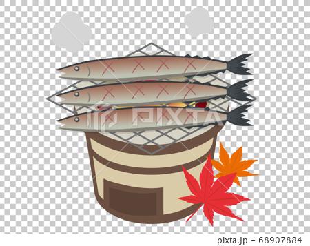 烤秋箭魚與七個輪子的插圖 68907884