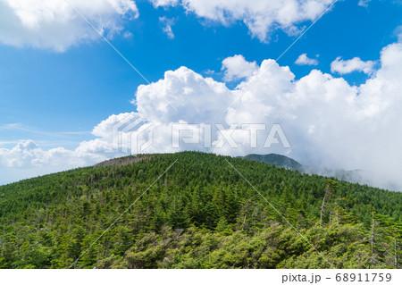 縞枯山山頂付近展望台からの景色(八ヶ岳) 68911759