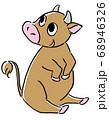 牛のイラスト ブラウン 68946326