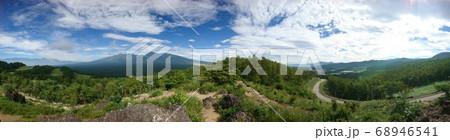 獅子岩八ヶ岳展望台からの眺望(南アルプス連峰・八ヶ岳連峰・野辺山宇宙電波観測所) 68946541