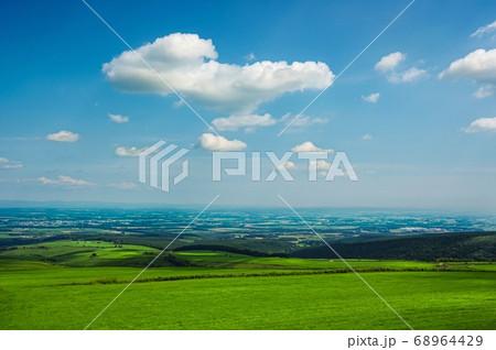 ナイタイ高原牧場から見える十勝平野(北海道 上士幌町) 68964429
