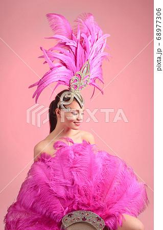 Beautiful girl in carnival costume with 68977306