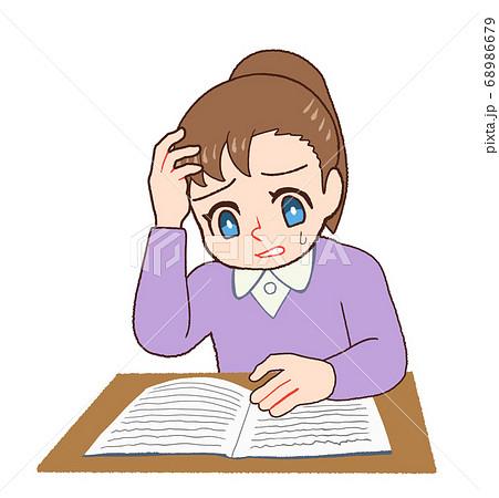 書いてある内容が理解できない子供 68986679