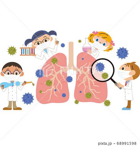 肺の治療をするマスクをしている医者 68991598