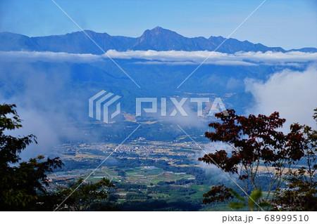 茅ヶ岳山頂からの甲斐駒ヶ岳・鋸岳・アサヨ峰 68999510