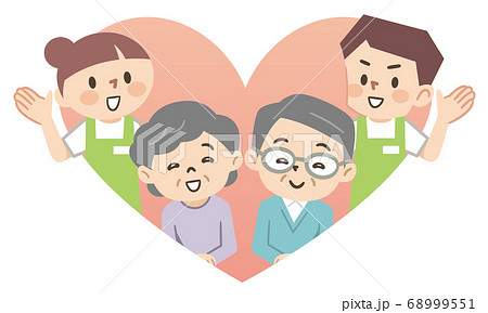 高齢者と介護スタッフ 68999551
