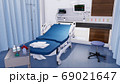 Empty hospital bed in emergency room of clinic 69021647