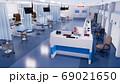 Empty emergency room interior in modern hospital 69021650