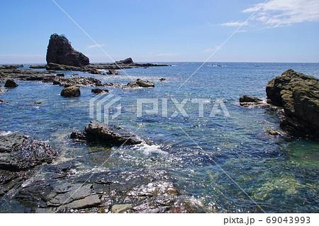 南紀の海岸風景 和歌山県東牟婁郡串本町和深付近 69043993