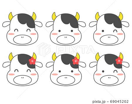 6匹の牛の顔 69045202