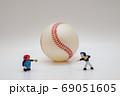 野球ピッチング練習 69051605