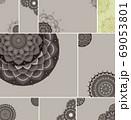 Beautiful colour mandala background 69053801