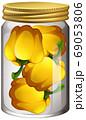 Capsicum in the glass jar 69053806