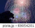 熊野獅子岩と打ち上げ花火    69054201