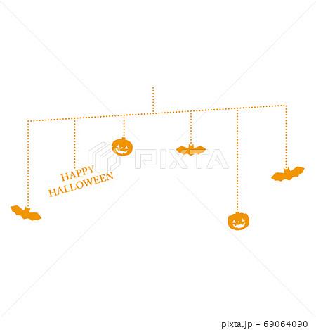 かぼちゃとコウモリのハロウィンモビール 69064090