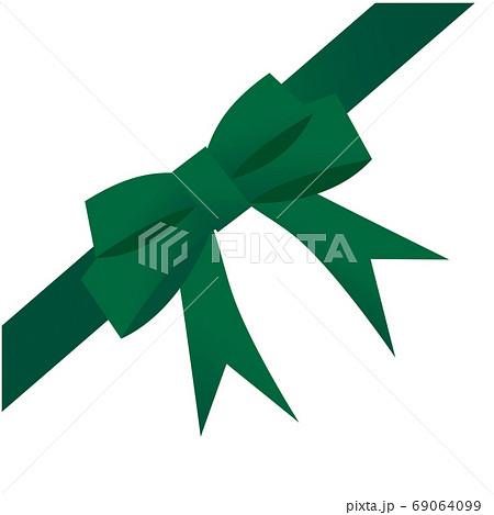 コーナー用の緑色のリボン 69064099