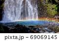 善五郎の滝にかかる虹 69069145