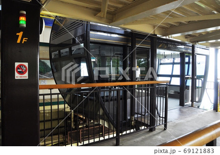 新穂高ロープウェイ しらかば平駅の2階建てロープウェイ 69121883
