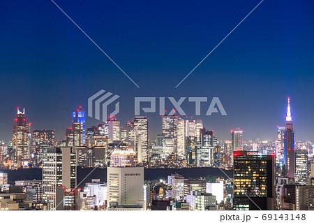 《東京都》東京都市夜景・新宿方面 69143148