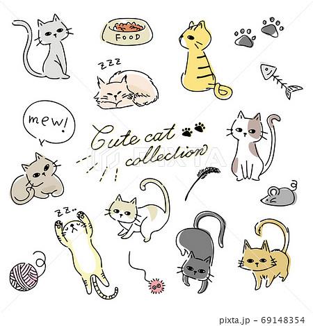 猫のイラストセット 69148354