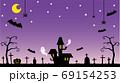ハロウィン背景 69154253