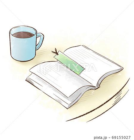 読みかけの本と冷めたコーヒー 69155027