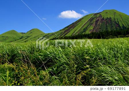 九州の人気ドライブコース 阿蘇パノラマラインの景観 69177891