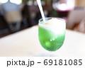 クリームソーダ 炭酸 メロン 炭酸ジュース ジュース アイスクリーム 69181085