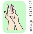 Musculoskeletal Hand Palm Massage Illustration 69193407