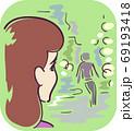 Girl Symptom Cloudy Vision Illustration 69193418