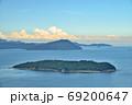 高島と小豆島(香川県高松市庵治竜王山公園より) 69200647