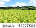 真岡鐵道「晩夏初秋の美しき田園風景と単行列車」 69207584