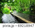 静岡県三島市 源兵衛川中間地点の「水の苑緑地」入口 69218947