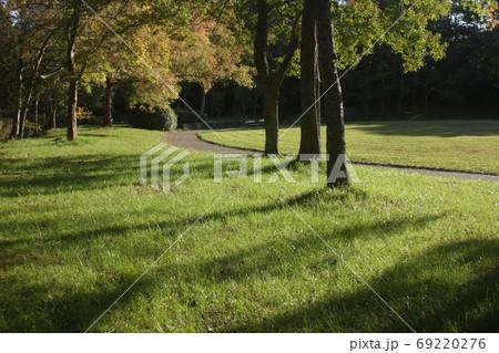一日の終わりの西陽を浴びた公園(神戸市須磨区松尾公園) 69220276