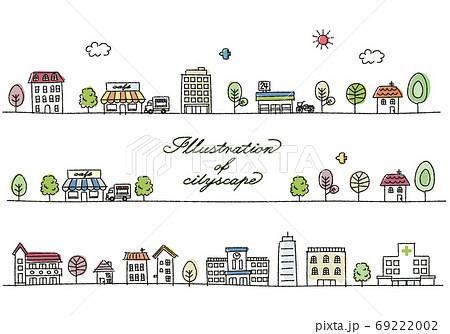 街並み 手描き風 69222002