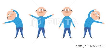 体操する高齢者 男性 69226498