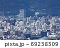 高松市街の香川県庁、高松市役所、高松競輪場付近 69238309