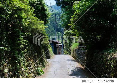 山の集落。日本の春の里山歩き、山梨県高柄山 69256490