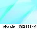 抽象的背景 青色系 ゆるやかな流れ・ライン 69268546