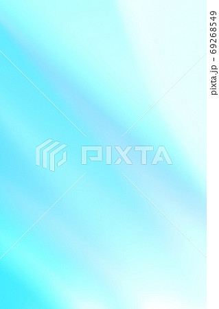抽象的背景 青色・緑色系の緩やかな流れ・ライン 69268549
