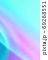 抽象的背景 青色・紫色系の緩やかな流れ・ライン 69268551