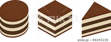 丸と四角と三角のティラミス 69295236