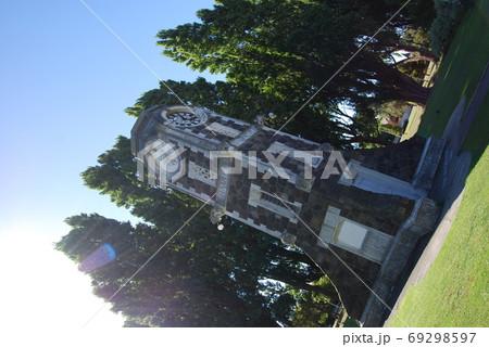 ニュージーランドの公園にて。時計台 69298597