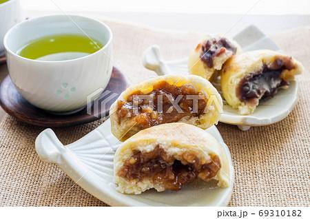 信州名物おやきとお茶 くるみ味噌とあんこ 69310182